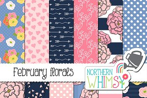 February Floral Patterns