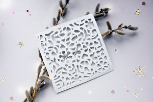 Wedding Envelope Laser Cut Template