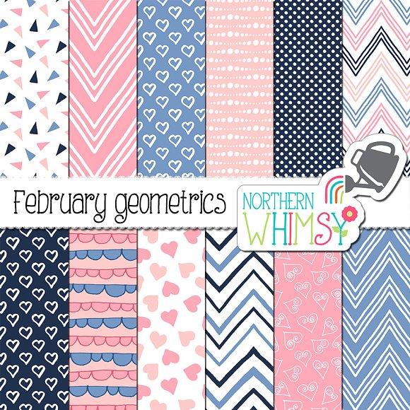 Pink Navy Periwinkle Geometric