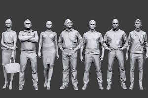 Lowpoly People Casual Pack Vol.6