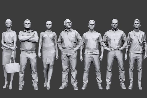 Person: kanistra studio - Lowpoly People Casual Pack Vol.6