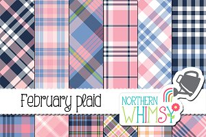 Pink and Navy Plaid
