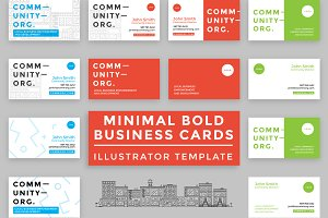 10 Minimal Bold Business Cards