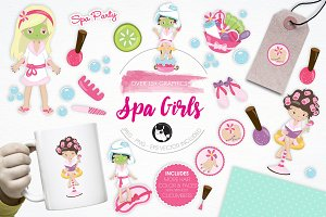 Spa Girls illustration pack