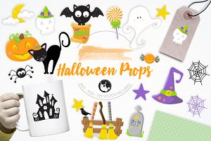 Halloween Props illustration pack