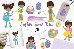Easter Time Fun illustration pack