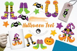 Halloween Feet illustration pack