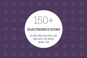 150+ Electronic Icons