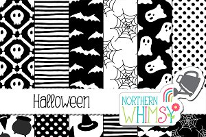 Halloween Patterns - black & white