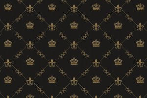 Royal wallpaper pattern