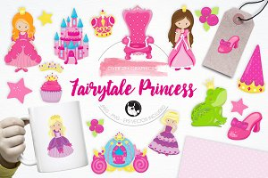 Fairytale Princess illustration pack