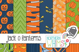 Halloween Pumpkin Seamless Patterns