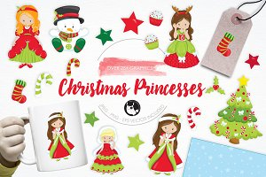 Christmas Princesses illustrations