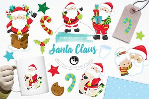 Santa Claus illustration pack