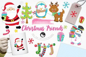 Christmas Friends illustration pack