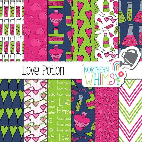 Valentines Patterns Love Potion