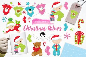 Christmas Babies illustration pack