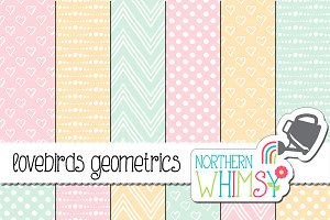 Pastel Geometric Patterns