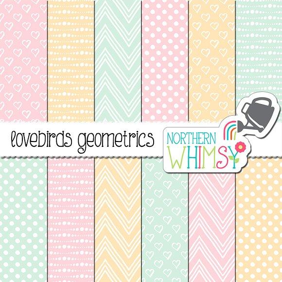 Pastel Geometric Patterns