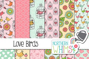 Valentine's Patterns:  Love Birds