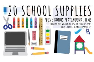 School Supplies Illustrations