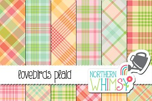 Pastel Pink, Yellow & Blue Plaid