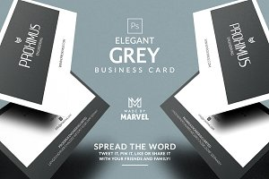 Elegant Grey Business Card