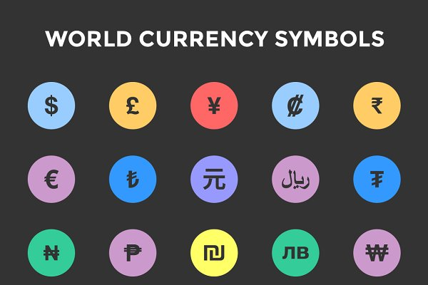 World Currency Symbols / Icons