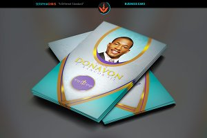 Royal Teal Church Business Card