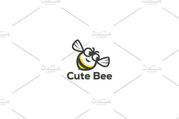 Cute Bee Logo Template