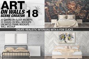 Canvas Mockups - Frames Mockups v 18