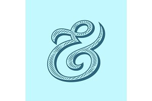 Ampersand vector illustration