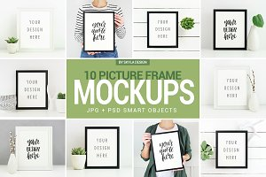Poster & Picture frame mockup photos