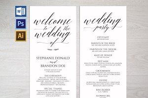 Rustic Wedding Program Template Wpc1