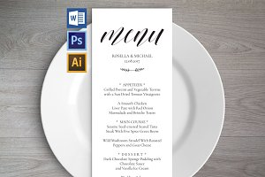 Wedding Menu Template Wpc2