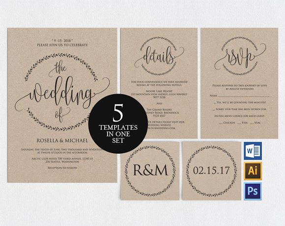 wedding invitation template wpc3 invitation templates creative
