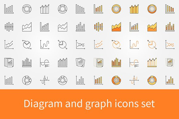 Diagram And Graph Icons Set