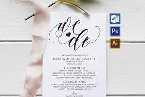 Wedding Program Template Wpc6