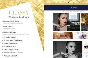 Classy - Responsive Wordpress  Theme