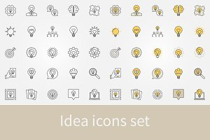 Idea icons set