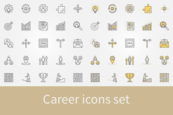 Career icons set