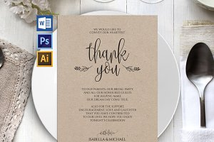 Wedding Thank You Printable Wpc25