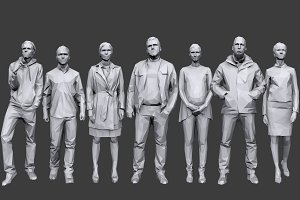 Lowpoly People Casual Pack Vol.7