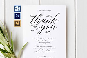 Wedding Thank You Printable Wpc26