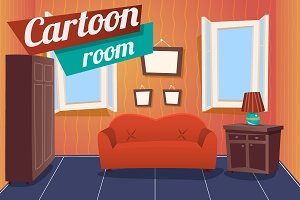 Cartoon Apartment Livingroom