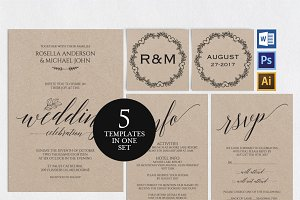 Wedding Invitation Template Wpc5