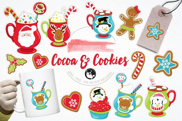 Cocoa Cookies Illustration Pack