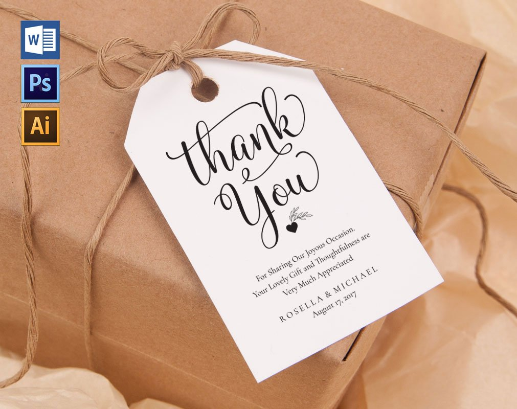 Thank You Tag Wpc30 ~ Invitation Templates ~ Creative Market