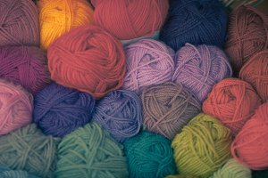 Colorful different wool