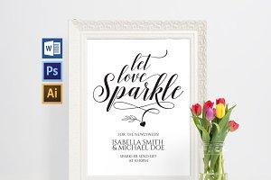 Let Love Sparkle Wedding Sign SHR34